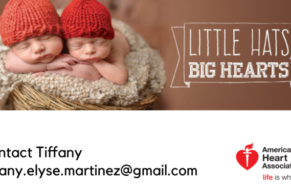 American Heart Month Hats for Babies